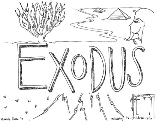 book of exodus quot bible coloring page for children