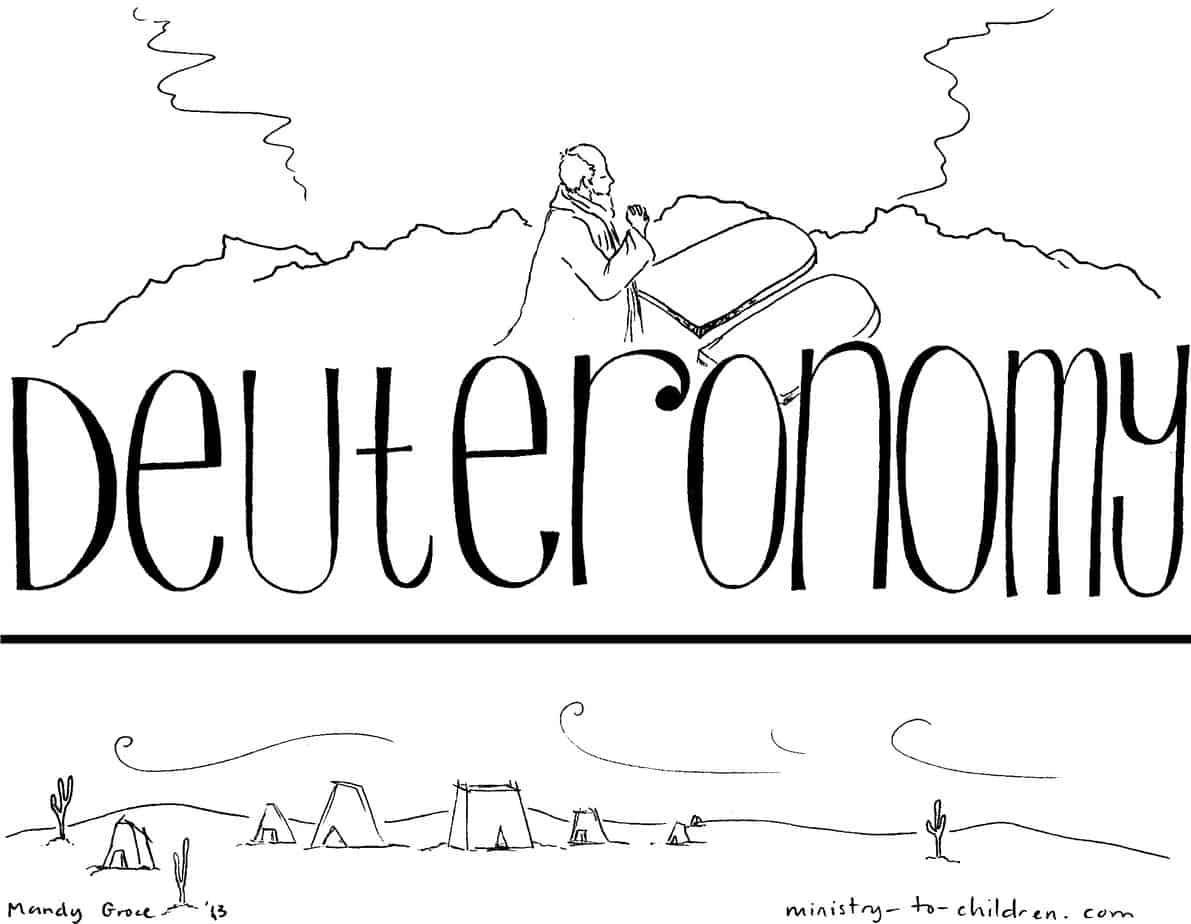 book of deuteronomy quot bible coloring page for children