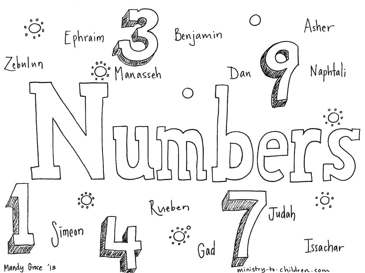 book of numbers quot bible coloring page for children