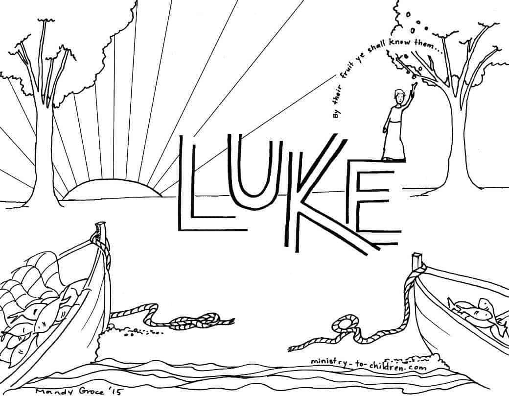 luke bible book coloring page