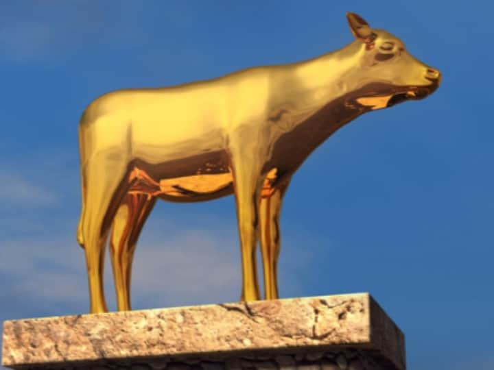 Image result for Golden calf, bible, art
