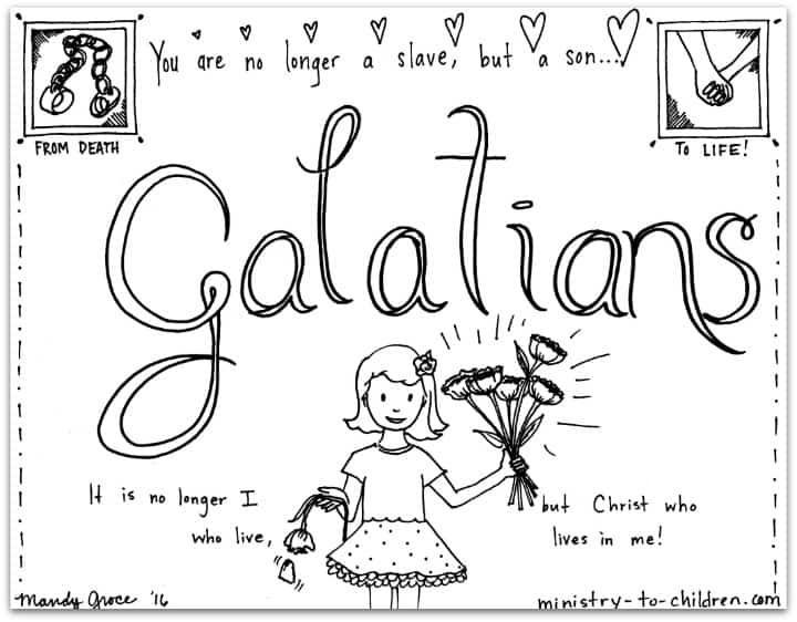 galatians bible book coloring page