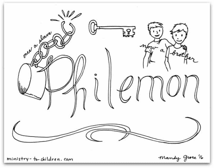 philemon bible book coloring page