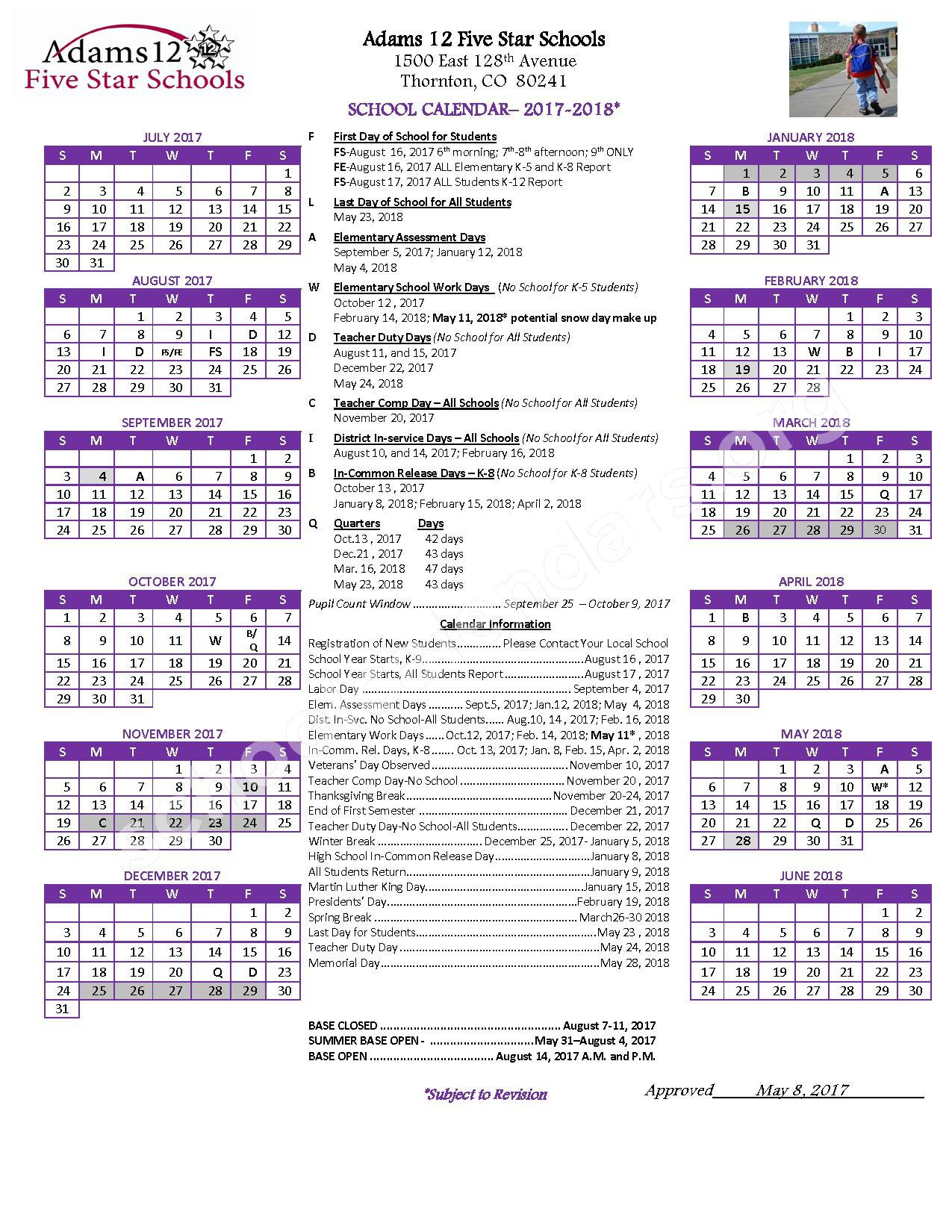 Skyline Vista Elementary School Calendars Denver Co