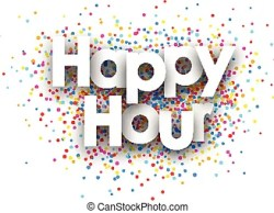 Happy Hour Paper Poster