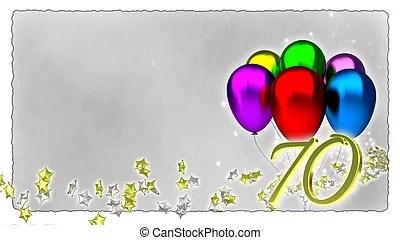 70th birthday 3d invitation 3d