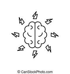 Download Brainstorm, teamleader, idea flat color line icon. Vector ...