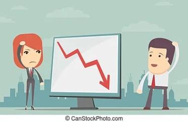 grafico investimenti in perdita