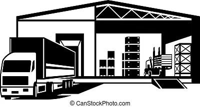 Goods Warehouse Vector Clip Art Illustrations 3544 Goods