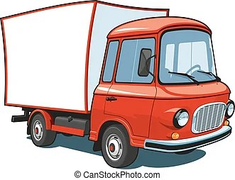 Red semi truck. Vector isolated red semi truck on white ...