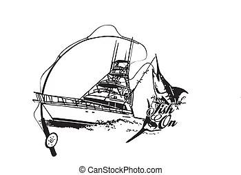 Sport Fishing Boat Name Brand Older Sport Fishing Boat