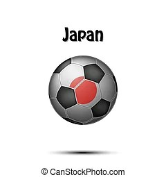 Download Soccer in japan - soccer ball and national flag of japan ...
