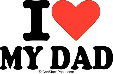 Download I love my dad banners with hearts vector illustration.
