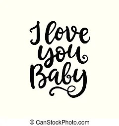 Download I love you, mom. hand written brush lettering. mothers day ...