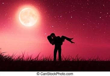 Download Couple under moonlight romance.