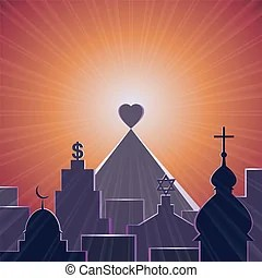 Download Illustration of i love my church sign.