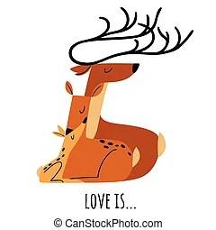 Download Deer family Clipart Vector Graphics. 1,180 Deer family EPS ...