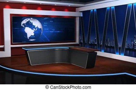 Samples Of Virtual Studio Sets And Green Screen Backgrounds Free Test Download News Background With Desk Stock Video