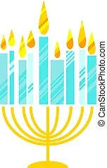 Simple Menorah Hanukkah Or Icne Menorah Or