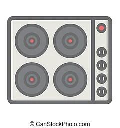 cuisine chaud icone panneau plaque