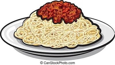 Afbeeldingsresultaat voor bord spaghetti tekening
