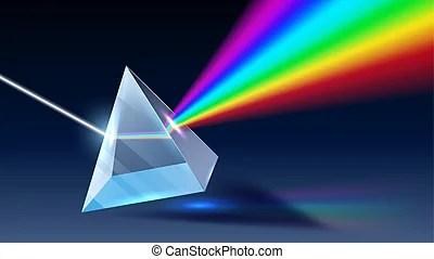 彩虹, 教育, 光線, 光, prism., 光譜, dispersion, 玻璃, 影響, 矢量, 背景, 光學, 物理學, 光線. 彩虹, 教育,  光線, 影響, 玻璃, 光, prism., 插圖, 光譜, dispersion, 背景。, | CanStock