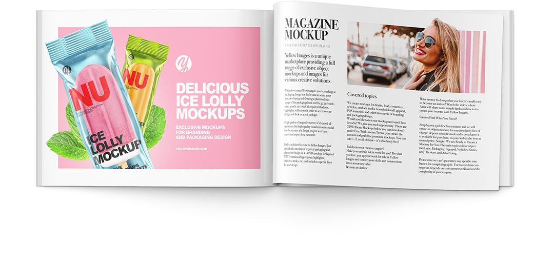 Download Magazine Mockup Templates Yellowimages