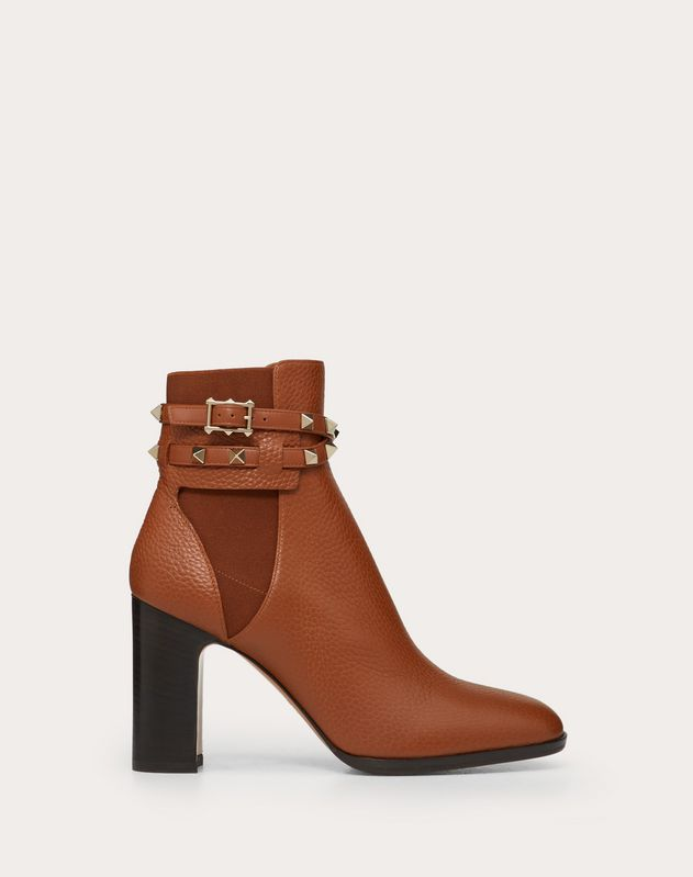 VALENTINO – BOTTINES TALONS MARRON CUIR