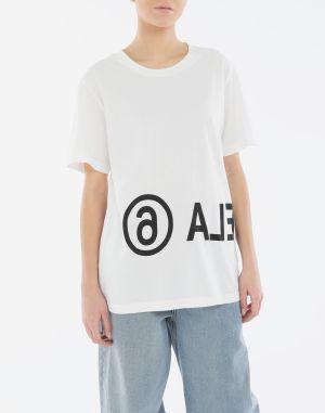 Mm6 By Maison Margiela Short Sleeve T-shirt Ivory