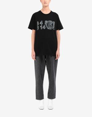 Mm6 By Maison Margiela Short Sleeve T-shirt Black