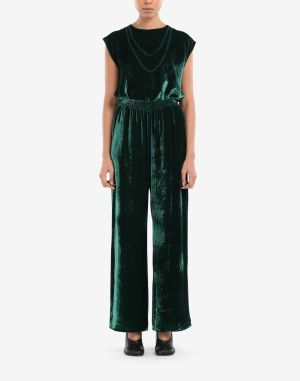Mm6 By Maison Margiela Casual Pants Emerald Green