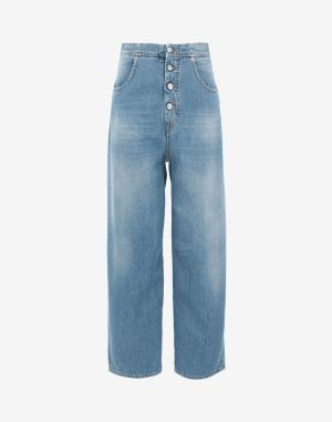 Mm6 By Maison Margiela Jeans Blue Cotton