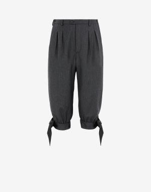 Maison Margiela Shorts And Bermudas Steel Grey Wool