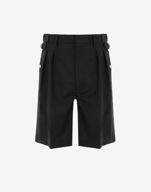 Maison Margiela Shorts And Bermudas Black Virgin Wool