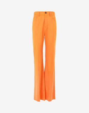 Mm6 By Maison Margiela Casual Pants Orange Polyester, Virgin Wool, Elastane