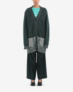 Mm6 By Maison Margiela Cardigan Dark Green