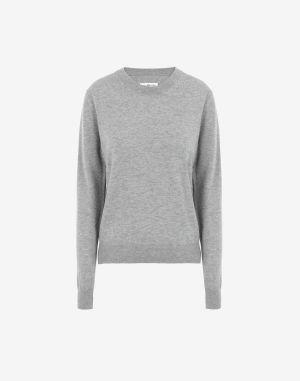 Maison Margiela Crewneck Sweater Light Grey Wool