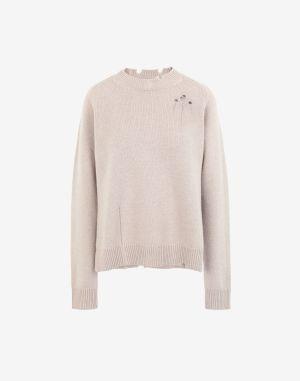 Maison Margiela Crewneck Sweater Beige Wool