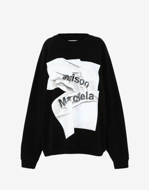Maison Margiela Sweatshirt Black Cotton