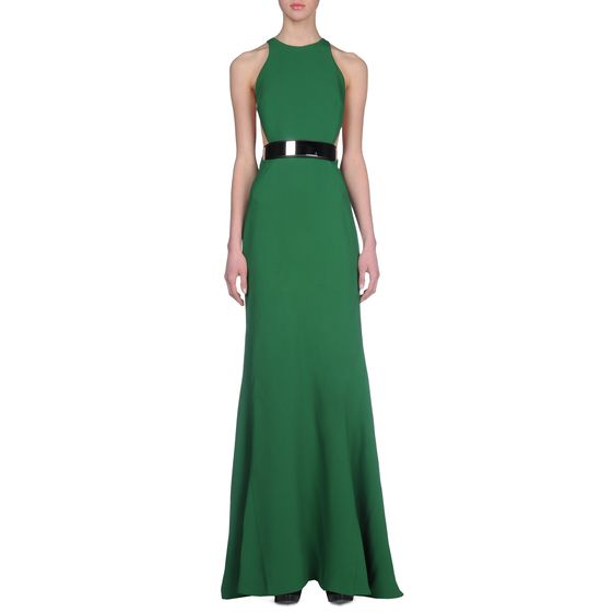 Stella McCartney Stretch Cady Saskia Dress in Green