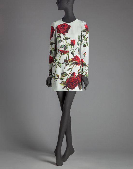 ROSE PRINT CADY SHEATH DRESS - Short dresses - Dolce&Gabbana - Winter 2015