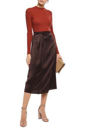 Paneled Silk Skirt