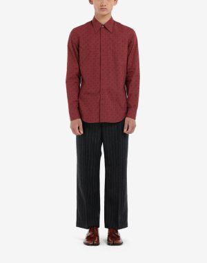 Maison Margiela Long Sleeve Shirt Red