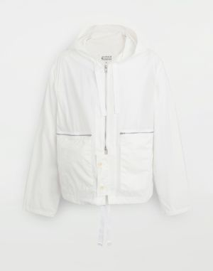 Maison Margiela Blazer White Polyamide