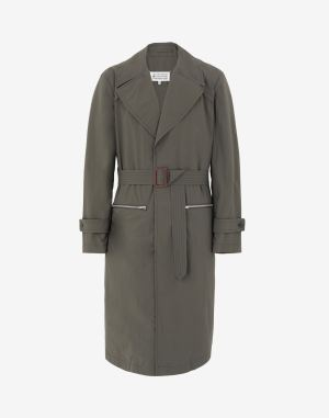 Maison Margiela Coats And Trenches Military Green Recycled Polyamide