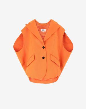 Mm6 By Maison Margiela Blazer Orange Polyester, Virgin Wool, Elastane
