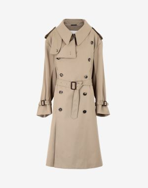 Maison Margiela Coats And Trenches Camel Wool, Angora