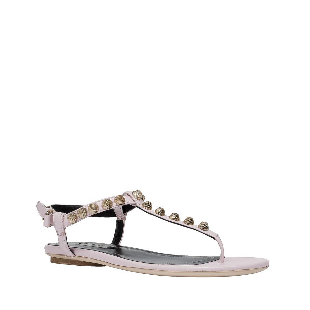 Balenciaga, Balenciaga Giant Gold T Strap Sandals
