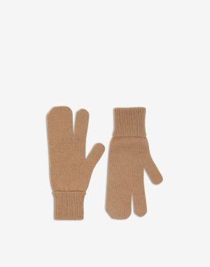Maison Margiela Gloves Camel Wool, Cashmere