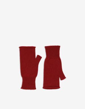 Maison Margiela Gloves Maroon Wool, Cashmere